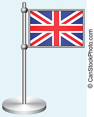Great Britain Vector Flag with Metal Stand