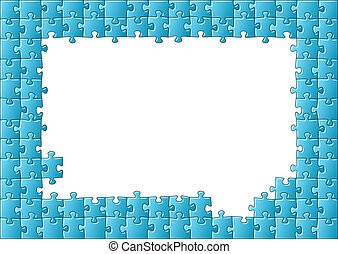 jigsaw puzzle frame - vector illustration of a jigsaw puzzle...