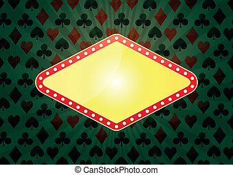 las vegas background - illustration of yellow banner for...