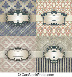 Set of Vintage frame - The vector image Vintage frame