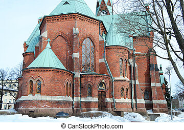 Kotka Cathedral - The Cathedral in Kotka at winter, Finland...
