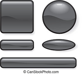 Set of button different form