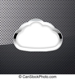 metallic background with a cloud