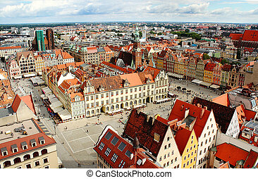 Aerial view on Wroclaw