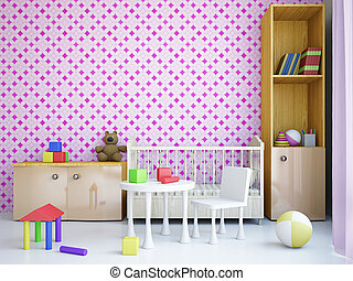 Nursery with a bed