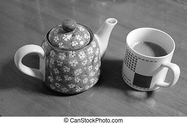 Tea Cup with Pot