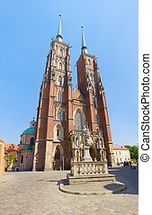 cathedral  church of  Wroclaw, Poland