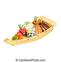 sea food on a white background