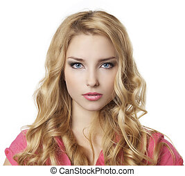 portrait of young beautiful blond girl - Portrait of young...
