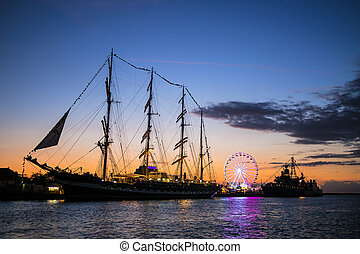 Hanseatic Sail in Rostock (Germany).