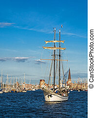 Hanseatic Sail in Rostock Germany
