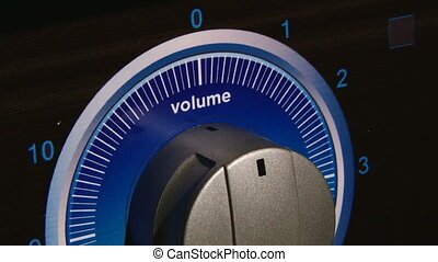 Volume regulator, closeup, blue