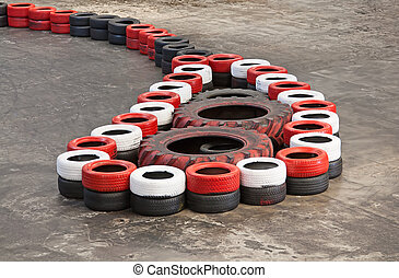 Indoor karting race safety barriers