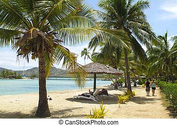 Fiji, relaxing on Malolo Lailai island