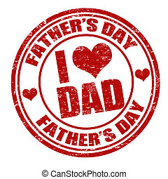 Fathers day stamp - Grunge Fathers day rubber stamp on...