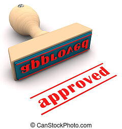 Stamp Approved - Stamp with text approved on the white...