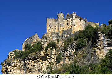castle of Beynac is located in France in P?rigord. The...