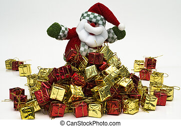 Santa with gifts - Santa Claus with so many gifs