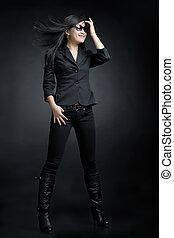Beautiful asian fashion model