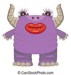 Funny purple monster