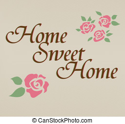 Home sweet home hand lettering vect