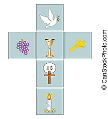 cross - illustration with cross of Christian religious