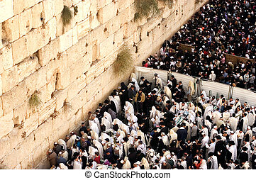 The Kotel - Israel - JERUSALEM - OCT 14: Orthodox Jewish...