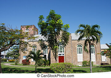 Old Anglican Church in Belize - Old Saint Johns Church...