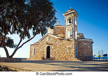 Ayios elias church on top of the hill - Orthodox church...