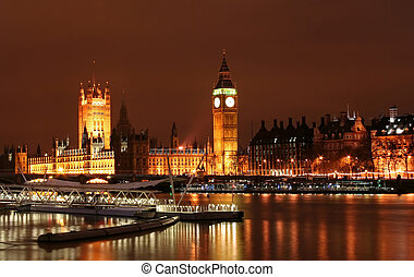 Big Ben London, UK during night time