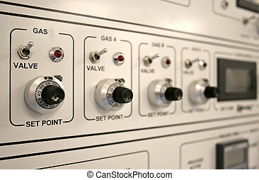 Control Panel - Control panel of a clean-room equipment