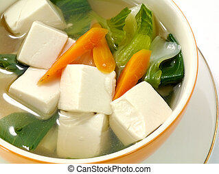 Tofu and vegetable soup