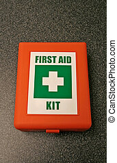 First aid kit in the laboratory