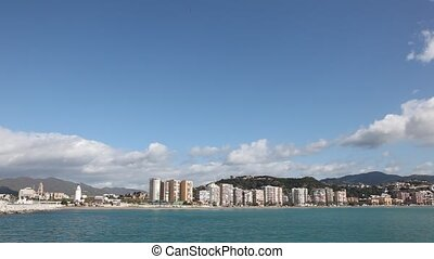 Skyline of Malaga, Spain