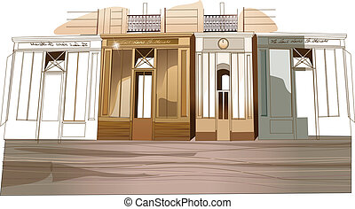 Building exterior - This illustration is a common cityscape....