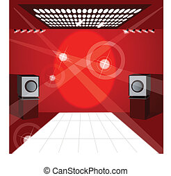 Speaker and lights - This illustration is a common cityscape...