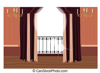 Balcony - This illustration is a common cityscape