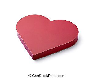 red heart love candy box