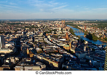 City of Frankfurt, Germany - Aerial view of the City of...
