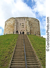 Clifford\\\'s Tower at York, England