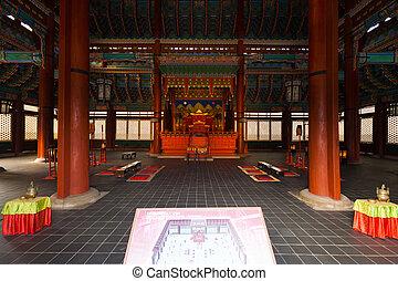 Gyeongbokgung Throne Hall Building Inside