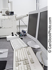 Scanning Electron Microscope SEM machine in cleanroom