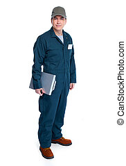 Auto mechanic. - Professional Auto mechanic. Isolated on...