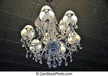 vintage crystal chandelier - Hanging crystal chandelier in...