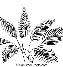 Palm tree isolated over white. Vector illustration.