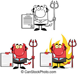 Devil Boss Characters.Collection 4 - Devil Boss Cartoon...