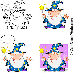 Wizard CharactersCollection3 - Happy Wizard Cartoon...