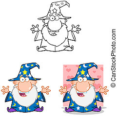 Wizard Cartoon Characters - Happy Wizard Cartoon...
