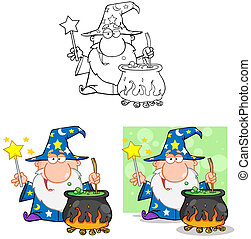 Wizard Characters.Collection - Wizard Cartoon...