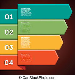 Infographics with colorful ribbon pointers - Infographics...